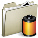 Lightbrown Photo film Icon