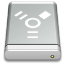 Drive Gray FireWire Icon