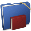 Blue Elastic Library Icon