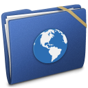 Blue Elastic Sites Icon