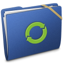 Blue Elastic iDisk Icon