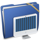 Blue Elastic iMac Icon
