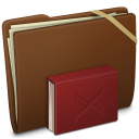 Brown Elastic Library Icon