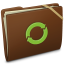 Brown Elastic iDisk Icon