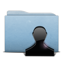Folder Blue Users Icon