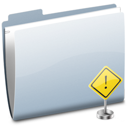 Folder Sign Stop Icon
