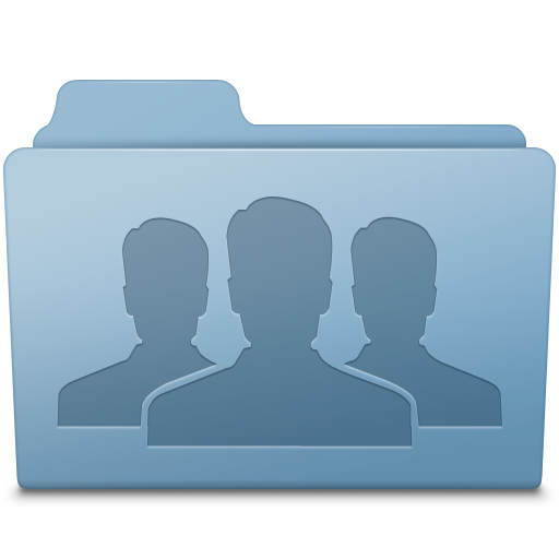Group Folder Blue Icon