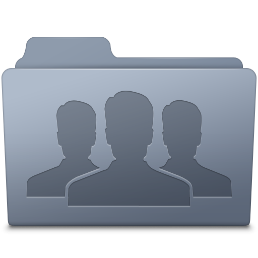 Group Folder Graphite Icon