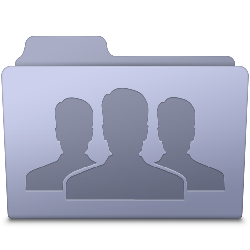 Group Folder Lavender Icon