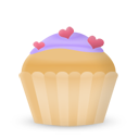 cupcake cake hearts Icon