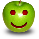 Apple Smile Icon