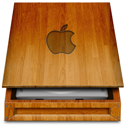 HD wood APPLE Icon