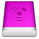 Pink FireWire Icon