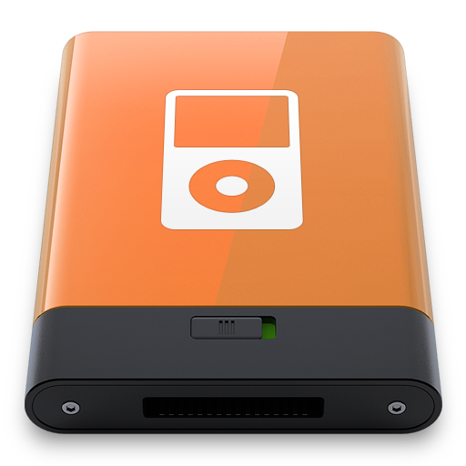 orange ipod w Icon