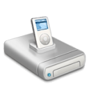 IPod music drive dark Icon