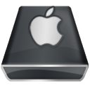 Black Apple Icon