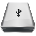 White Firewire Icon