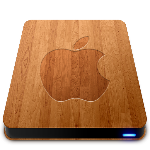 Wooden Slick Drives   Apple Icon