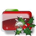 Christmas Folder Holly 2 Icon