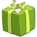 Shiny Green Present Icon