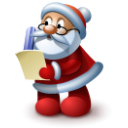 Santa Claus reading Icon