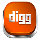 Digg Red 3 Icon