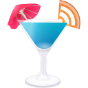 RSS blue cocktail Icon