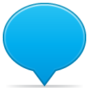 social balloon color blue Icon