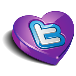twitter heart purple Icon
