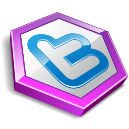 twitter hexa purple Icon