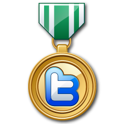 twitter medal green Icon