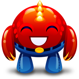 Red Monster Happy Vector Icons Free Download In Svg Png Format