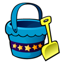 bucket and shovel Icon