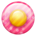 Pink button 1 Icon