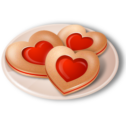 Cookies Hearts Icon