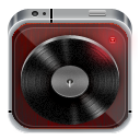 music player dark wood Icon
