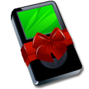 Ipod black gift Icon