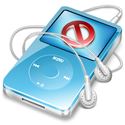 ipod video blue no disconnect Icon