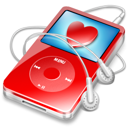 ipod video red favorite Icon