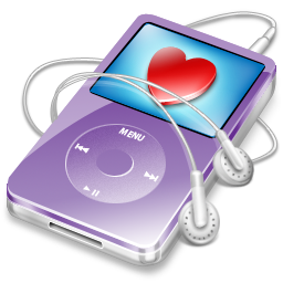 ipod video violet favorite Icon
