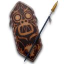 Cult of Kong Shield and Spear Icon