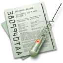 Document & Big Bug Icon