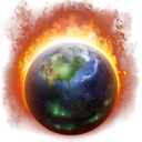 Burning Globe Icon