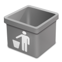 grey trash empty Icon