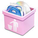 pink trash full Icon