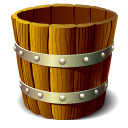 Wooden Bucket Empty Icon