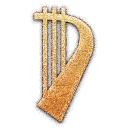 Lute Embossed Icon