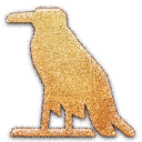 a, glottal stop, Vulture Embossed Icon