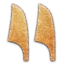 y Double Reeds Embossed Icon