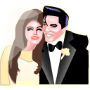 Elvis and Priscilla Presley Icon
